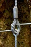 Conexión de cables de acero Imagenes de archivo