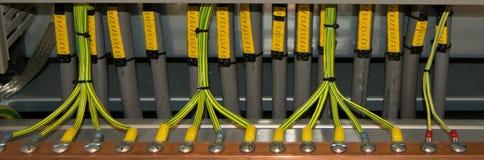 Conexión de cables eléctricos Fotografía de archivo libre de regalías