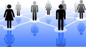 Conexión de la gente Imagen de archivo libre de regalías
