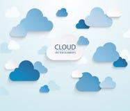 Conexión de la nube Imagenes de archivo
