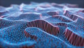 Conexión de red abstracta del fondo de Cloud Computing imagen de archivo