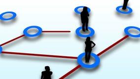 Conexión de red de la gente stock de ilustración