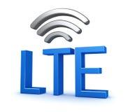 Conexión de red de LTE Imagen de archivo libre de regalías
