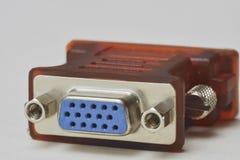 Conexión de VGA Fotos de archivo