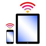 Conexión de Wi-Fi Imagen de archivo libre de regalías