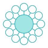 Conexión del círculo stock de ilustración