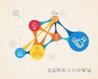 Conexión del infographics del vector Imágenes de archivo libres de regalías