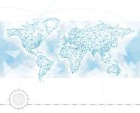 Conexión del mapa del mundo stock de ilustración