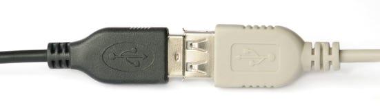 Conexión del USB fotografía de archivo