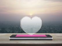 Conexión en línea del amor de Internet, concepto del día de tarjetas del día de San Valentín fotos de archivo libres de regalías