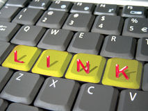 Conexión en un teclado Imagen de archivo