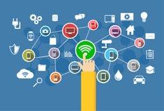 Conexión inalámbrica Concepto de la tecnología de la información