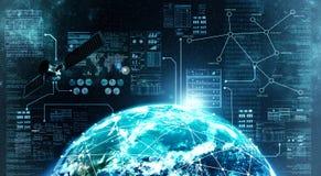 Conexión a internet en espacio exterior Foto de archivo libre de regalías