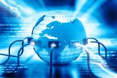 Conexión a internet global stock de ilustración