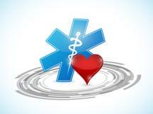 conexión médica de la tecnología stock de ilustración