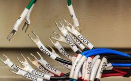 Conexión -- Panel de control con los alambres imagenes de archivo