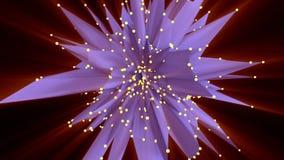 Conexión, partículas y luz de la estructura metrajes