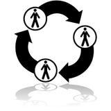 Conexión redonda del negocio libre illustration