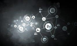 Conexión y establecimiento de una red sociales Imagen de archivo libre de regalías