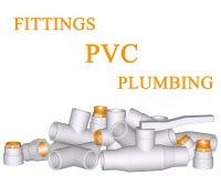 Conexión y tubos del PVC que ajusta Imágenes de archivo libres de regalías