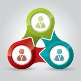 Conexión del márketing ilustrada con los indicadores Imagenes de archivo