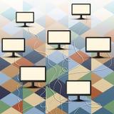Conexión del ordenador Fotografía de archivo