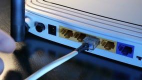 Conexión inalámbrica del router almacen de video