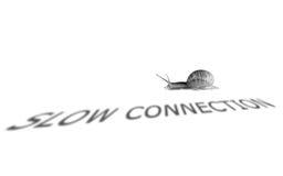 Conexión lenta Fotografía de archivo libre de regalías