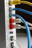 Conexiones blancas del router del ADSL Fotografía de archivo libre de regalías