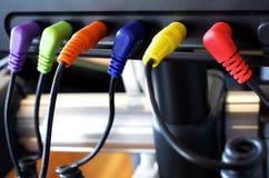 Conexiones de cable Foto de archivo libre de regalías