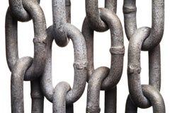 Conexiones de cadena aisladas del metal Imágenes de archivo libres de regalías