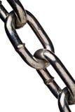 Conexiones de cadena aisladas del metal Foto de archivo