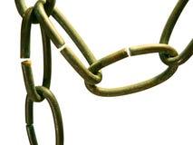 Conexiones de cadena del metal Fotos de archivo