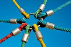 Conexiones de la cuerda Fotografía de archivo libre de regalías