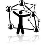 Conexiones de la gente ilustración del vector