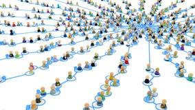 Conexiones de la muchedumbre de la historieta, centro del Web de la fuente Fotos de archivo