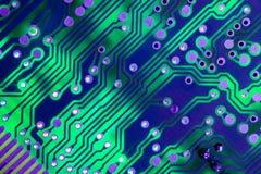 Conexiones de la tarjeta de circuitos Foto de archivo libre de regalías