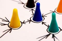 Conexiones de red imagen de archivo libre de regalías