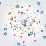Conexiones de red global Imagen de archivo