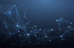 Conexiones de red global abstractas con los puntos y las líneas Wiref ilustración del vector