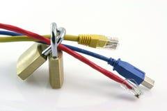 Conexiones de red seguras Foto de archivo