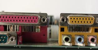 Conexiones del ordenador Foto de archivo