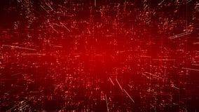 Conexiones emergentes, conductores y señales de los nervios sobre fondo rojo