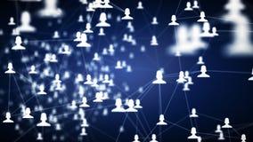 Conexiones enormes entre las cosas y los usuarios, vídeo 4K libre illustration