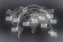 Conexiones globales Imagenes de archivo