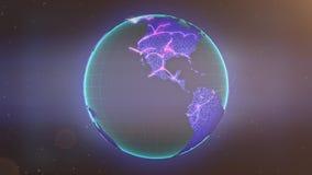 Conexiones globales como rayas pálidas de las trayectorias del vuelo almacen de metraje de vídeo