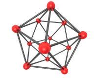 Conexiones moleculares Foto de archivo