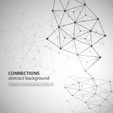 Conexiones moleculares, globales o del negocio de red Imagen de archivo