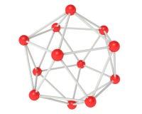 Conexiones químicas Fotos de archivo libres de regalías