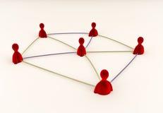 Conexiones sociales de los media Imagen de archivo libre de regalías